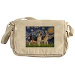 Starry / 2 German Shepherds Messenger Bag