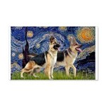 Starry / 2 German Shepherds 20x12 Wall Decal