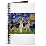 Starry / 2 German Shepherds Journal