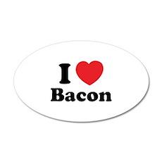 I love bacon 22x14 Oval Wall Peel