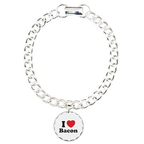 I love bacon Charm Bracelet, One Charm