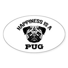 Happiness Is A Pug Decal