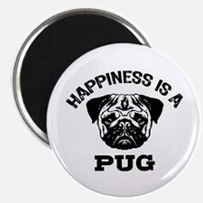 Happiness Is A Pug Magnet