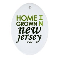 'New Jersey' Ornament (Oval)