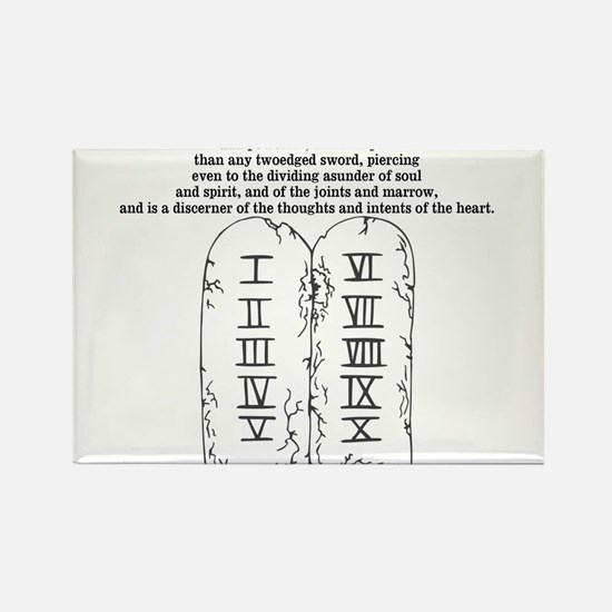 Two Edged Sword Rectangle Magnet