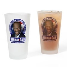 Vote Cain Drinking Glass