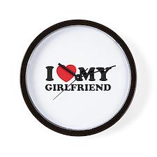 I love my girlfriend Wall Clock