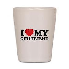 I love my girlfriend Shot Glass