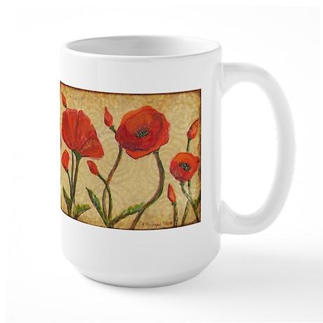 Poppy Paradise Large Mug