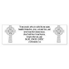 Celtic 2Chr 7:14 - Bumper Sticker