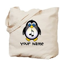 Personalized Music Penguin Tote Bag