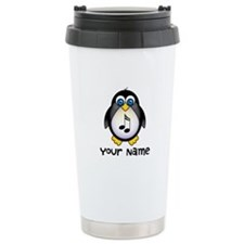 Personalized Music Penguin Stainless Steel Travel
