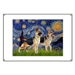 Starry / 2 German Shepherds Banner