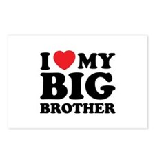 I love my big brother Postcards (Package of 8)