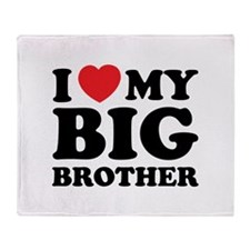 I love my big brother Throw Blanket
