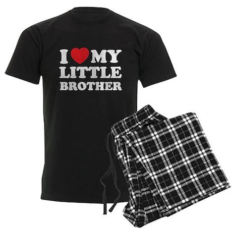 I love my little brother Men's Dark Pajamas