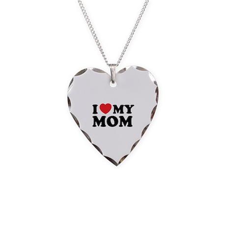 I love my mom Necklace Heart Charm