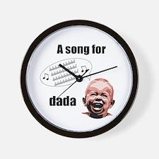 Dad's Song Wall Clock