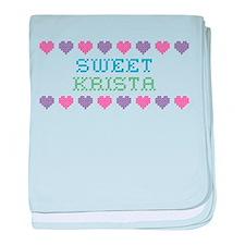 Sweet KRISTA baby blanket