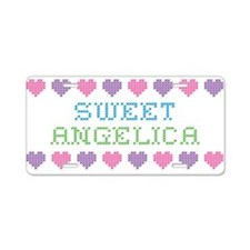 Sweet ANGELICA Aluminum License Plate