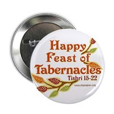 """Happy Feast of Tabernacles 2.25"""" Button (10 pack)"""
