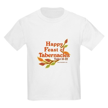 Happy Feast of Tabernacles Kids Light T-Shirt