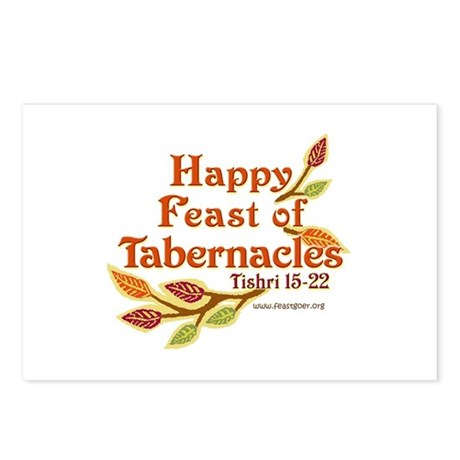 Happy Feast of Tabernacles Postcards (Package of 8