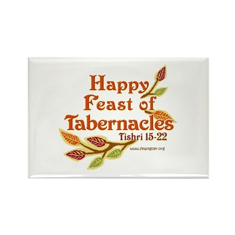 Happy Feast of Tabernacles Rectangle Magnet