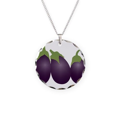 'Cause you, you're part eggpl Necklace Circle Char