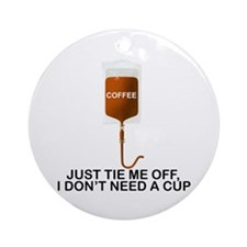 Intravenous Coffee Ornament (Round)