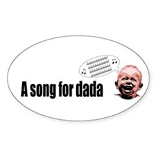 Dad's Song Oval Decal