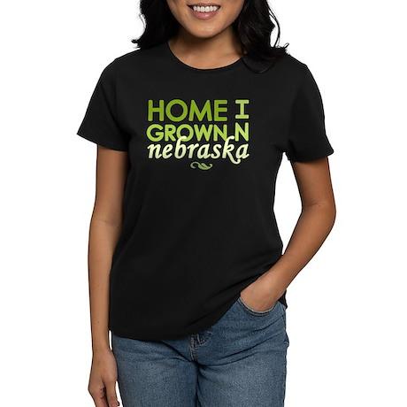 'Home Grown In Nebraska' Women's Dark T-Shirt