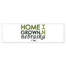 'Home Grown In Nebraska' Bumper Sticker