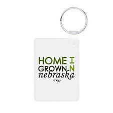 'Home Grown In Nebraska' Keychains