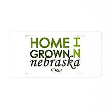 'Home Grown In Nebraska' Aluminum License Plate