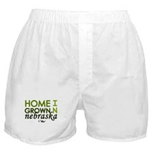 'Home Grown In Nebraska' Boxer Shorts