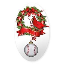 Baseball Christmas Wreath Decal