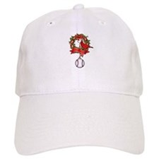 Baseball Christmas Wreath Baseball Cap