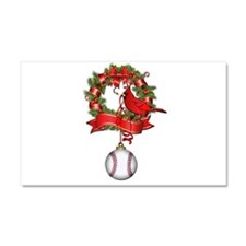 Baseball Christmas Wreath Car Magnet 20 x 12