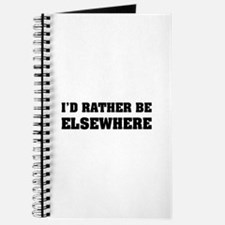 I'd rather be elsewhere Journal
