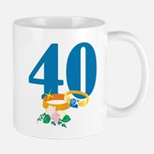 40th Anniversary w/ Wedding Rings Mug