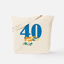 40th Anniversary w/ Wedding Rings Tote Bag