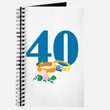 40th Anniversary w/ Wedding Rings Journal
