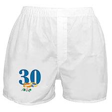 30th Anniversary w/ Wedding Rings Boxer Shorts