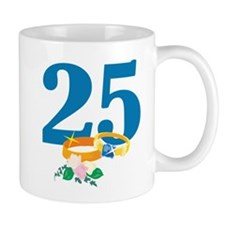 25th Anniversary w/ Wedding Rings Mug