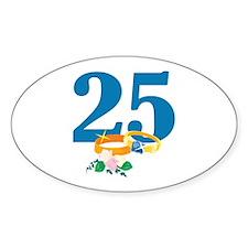 25th Anniversary w/ Wedding Rings Decal