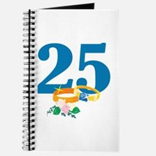 25th Anniversary w/ Wedding Rings Journal