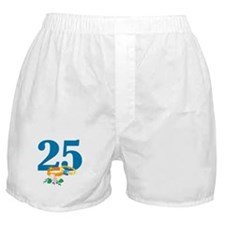 25th Anniversary w/ Wedding Rings Boxer Shorts