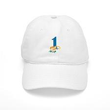1st Anniversary w/ Wedding Rings Baseball Cap
