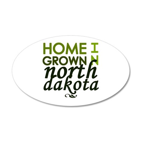 'North Dakota' 22x14 Oval Wall Peel
